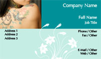 Feminine Body Art Business Card Template